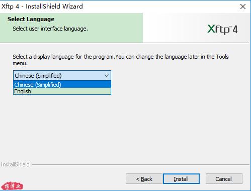 安装语言选择chinese