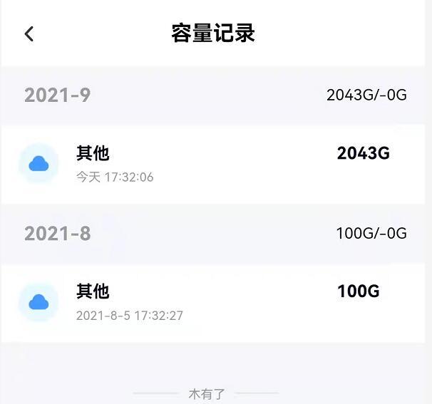 百度网盘容量记录